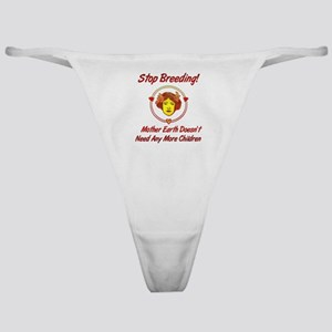 Stop Overpopulation Classic Thong