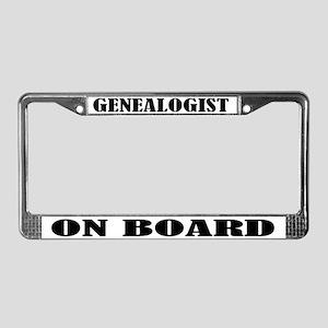 Genealogist License Plate Frame