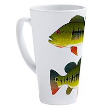 Royal Peacock Bass 17 oz Latte Mug