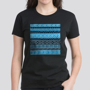 Blue Modern Mudcloth T-Shirt