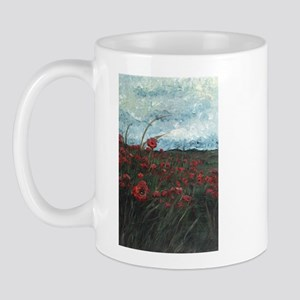 Stormy Poppies Mug