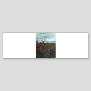 Stormy Poppies Bumper Sticker (10 pk)