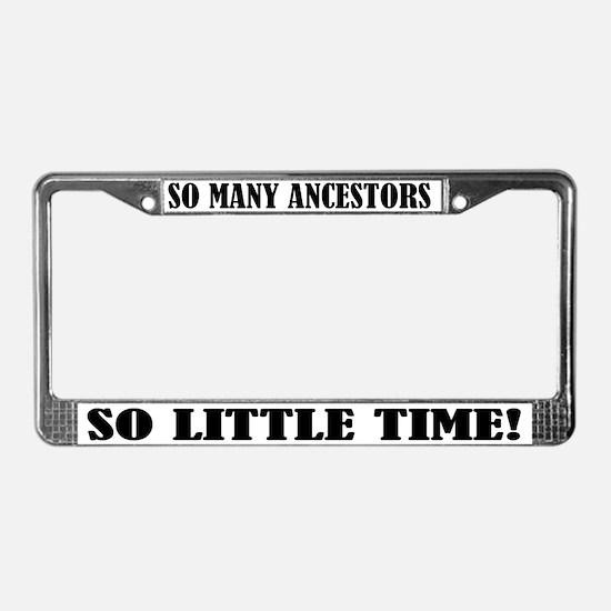 Funny Ancestors License Plate Frame