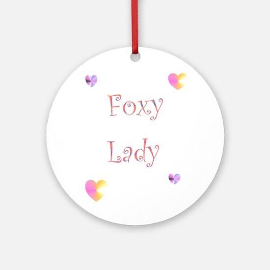 Foxy Lady Ornament (Round)