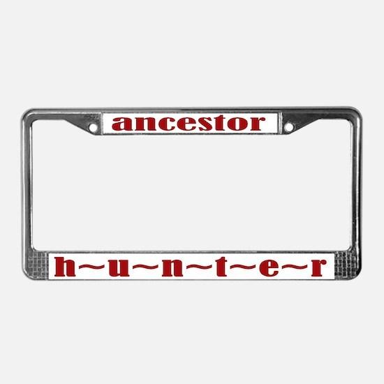 Ancestor Hunter License Plate Frame