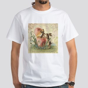 Vintage French Easter bunnies in egg T-Shirt