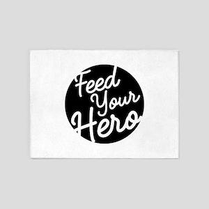 FEED YOUR HERO 5'x7'Area Rug