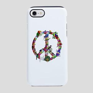 Colorful Birds Peace Sign iPhone 8/7 Tough Case