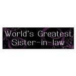 World's Greatest Sister-in-Law Sticker (Bumper 50