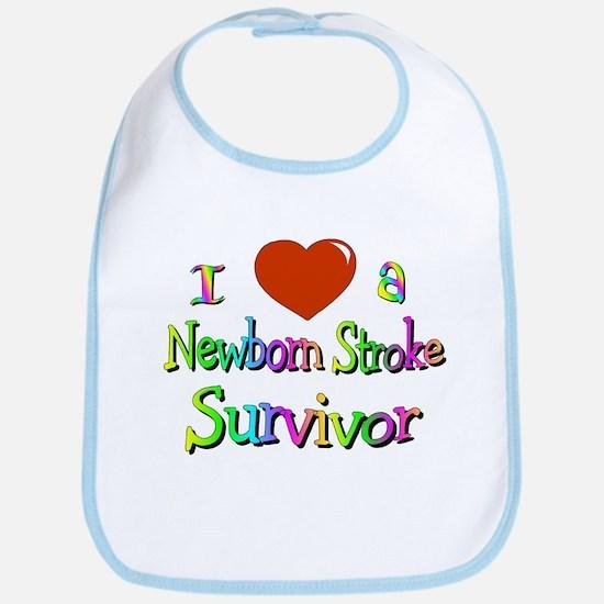 newborn stroke survivor Bib