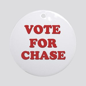 Vote for CHASE Ornament (Round)