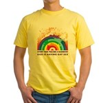 GOD RAINBOW SEX Yellow T-Shirt