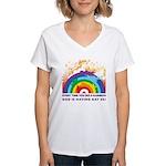 GOD RAINBOW SEX Women's V-Neck T-Shirt