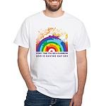 GOD RAINBOW SEX White T-Shirt