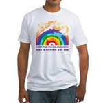 GOD RAINBOW SEX Fitted T-Shirt