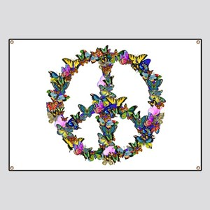 Butterfly Peace Symbol Banner