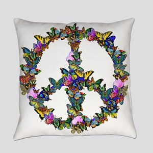 Butterfly Peace Symbol Everyday Pillow