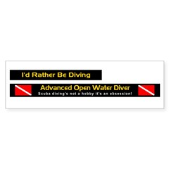 Advanced Open Water, License Plate Frame Stickers