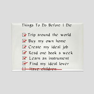 Child-Free Checklist Rectangle Magnet