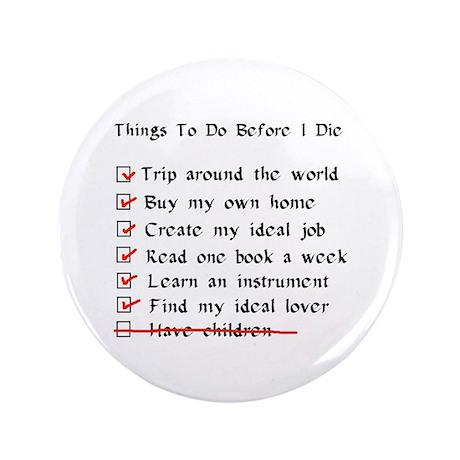 """Child-Free Checklist 3.5"""" Button (100 pack)"""
