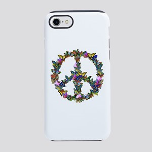 Butterfly Peace Symbol iPhone 8/7 Tough Case