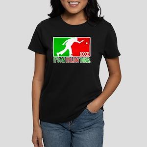 """""""Bocce Thing"""" Women's Dark T-Shirt"""