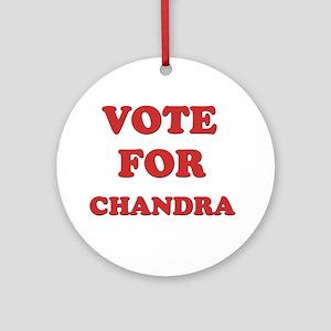 Vote for CHANDRA Ornament (Round)