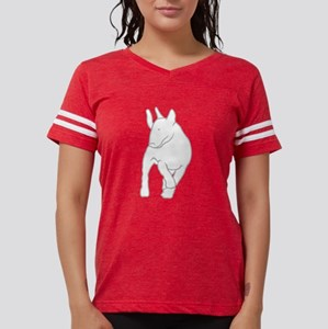 Bullterrier -inMotion- Organ. Men's Fitted T-Shirt
