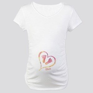 Baby and Heart Maternity T-Shirt