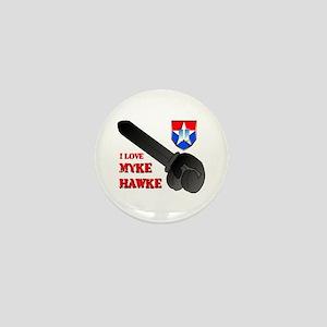 I Love Myke Hawke Mini Button