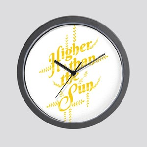 Higher Than The Sun Wall Clock