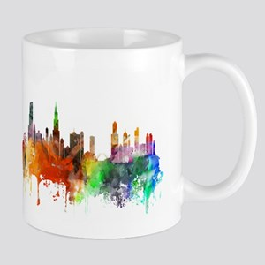 Chicago Skyline Watercolor Mugs