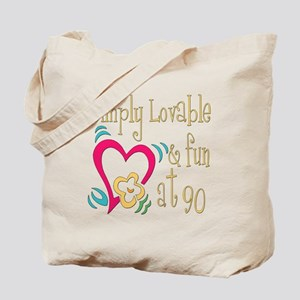 Lovable 90th Tote Bag
