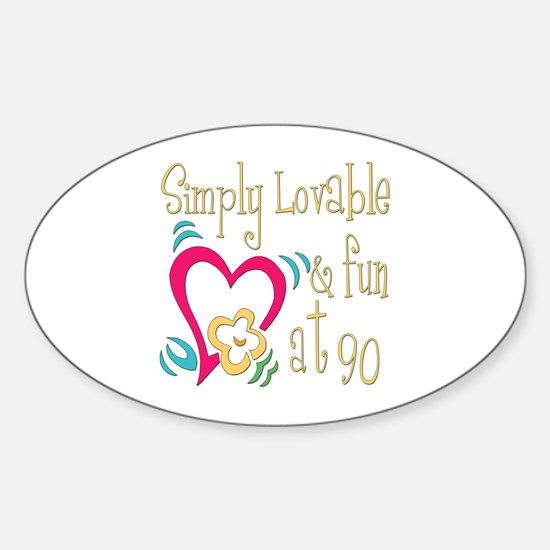 Lovable 90th Oval Decal