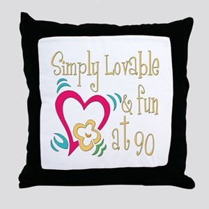 Lovable 90th Throw Pillow