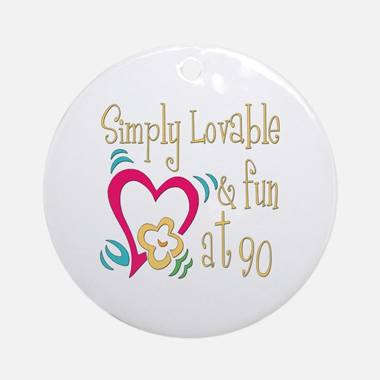 Lovable 90th Ornament (Round)