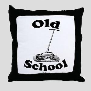 Push Mower (Old School) Throw Pillow