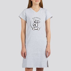 White Schnazuer IAAM Women's Dark T-Shirt