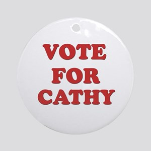 Vote for CATHY Ornament (Round)