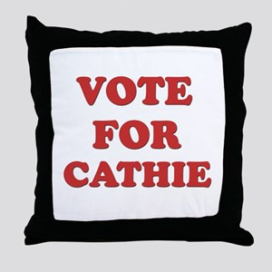 Vote for CATHIE Throw Pillow