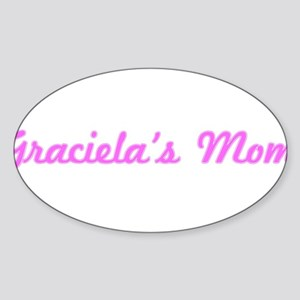 Graciela Mom (pink) Oval Sticker