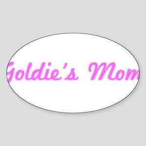 Goldie Mom (pink) Oval Sticker