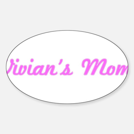 Vivian Mom (pink) Oval Decal