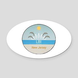 LBI Oval Car Magnet