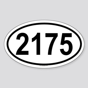 2175 Oval Sticker
