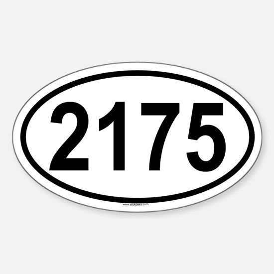 2175 Oval Decal