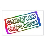 Gruntled/Happy Employee Rectangle Sticker