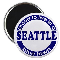 Seattle: Blue Town Magnet