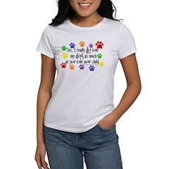 Yes, love dog, child Women's T-Shirt