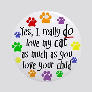 Love cat, child Keepsake (Round)